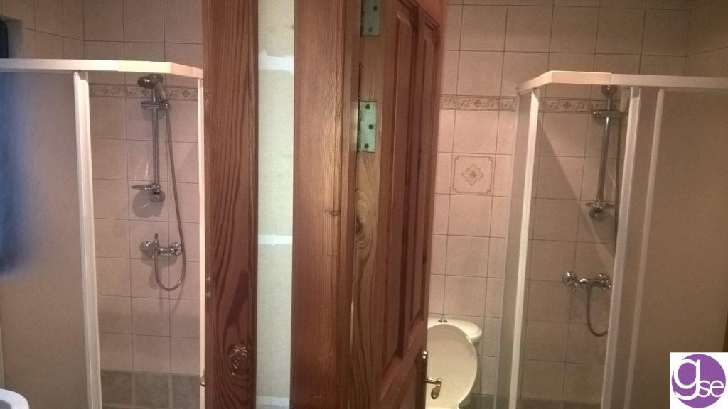 Badezimmer in der Schulunterkunft neben der Englischschule GSE